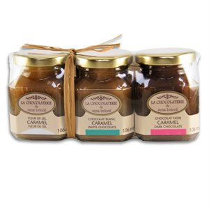 Caramel Trio Gift Set - La Chocolaterie du Vieux Beloeil 3 x 106ml