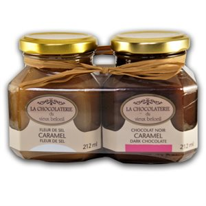 Caramel Duo Gift Set - La Chocolaterie du Vieux Beloeil 2 x 212ml