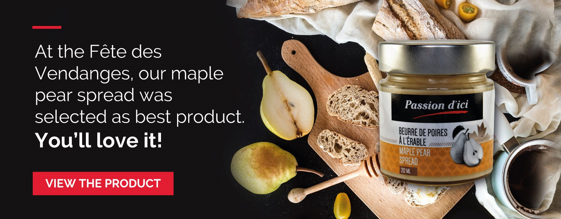 Our maple pear spread  was selected as best product